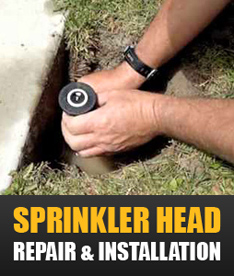 sprinkler head repair & installation in Richardson TX